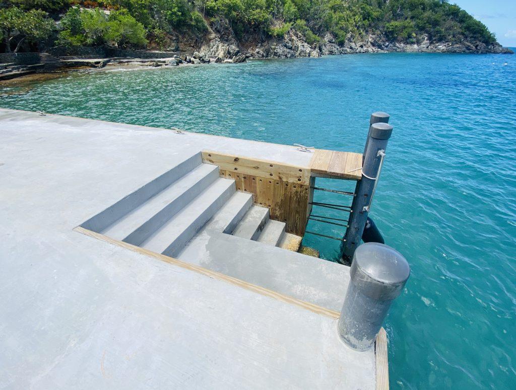 concrete seawall transfer point