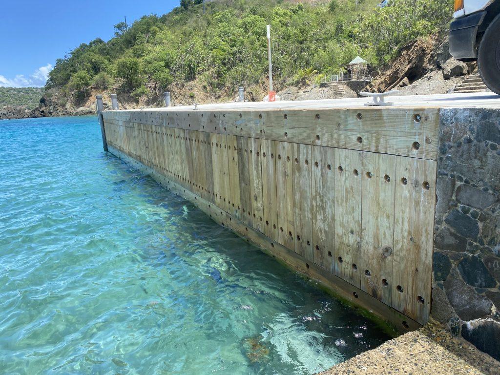 concrete seawall